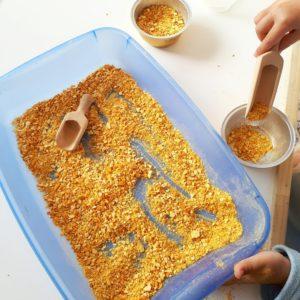 hacer harina de mandarina