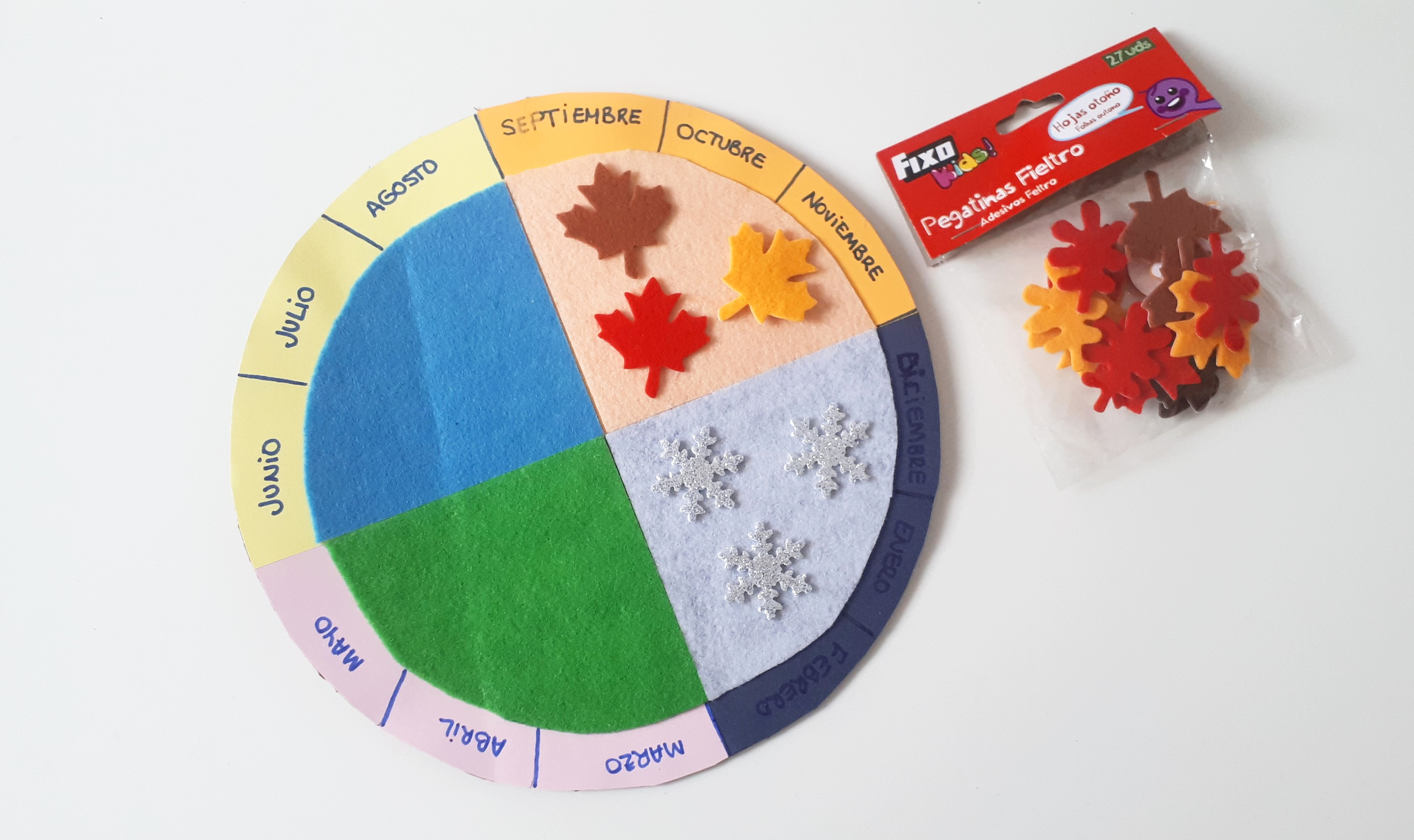 Calendario de las cuatro estaciones DIY