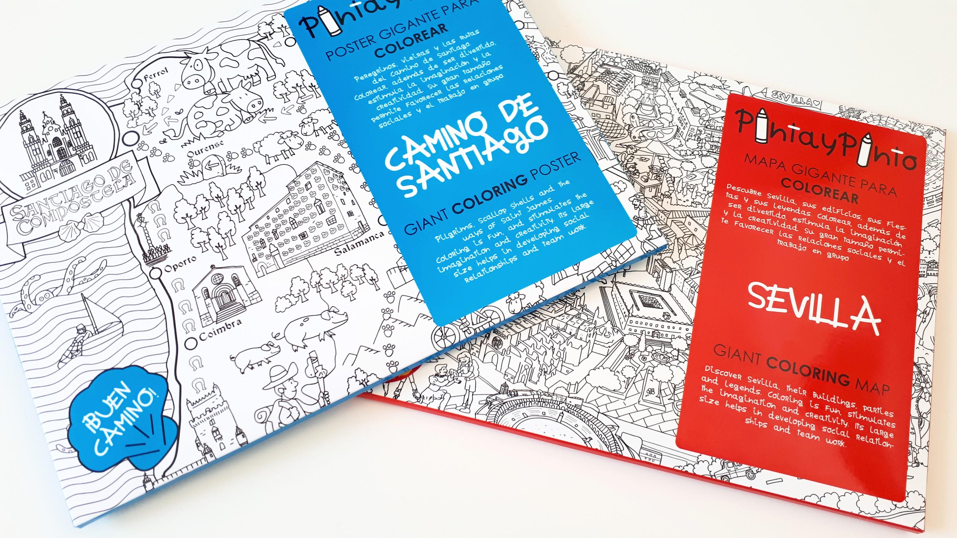 Mapas gigantes para colorear