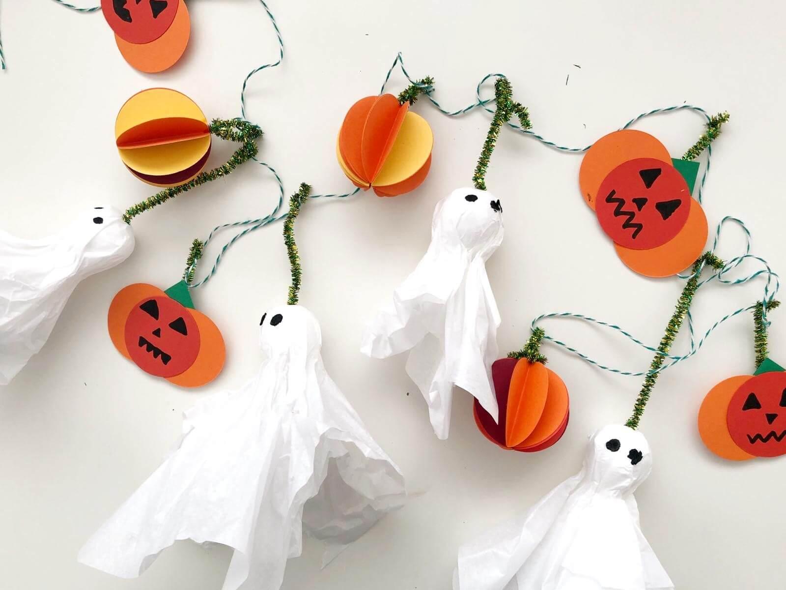 como hacer guirnalda halloween