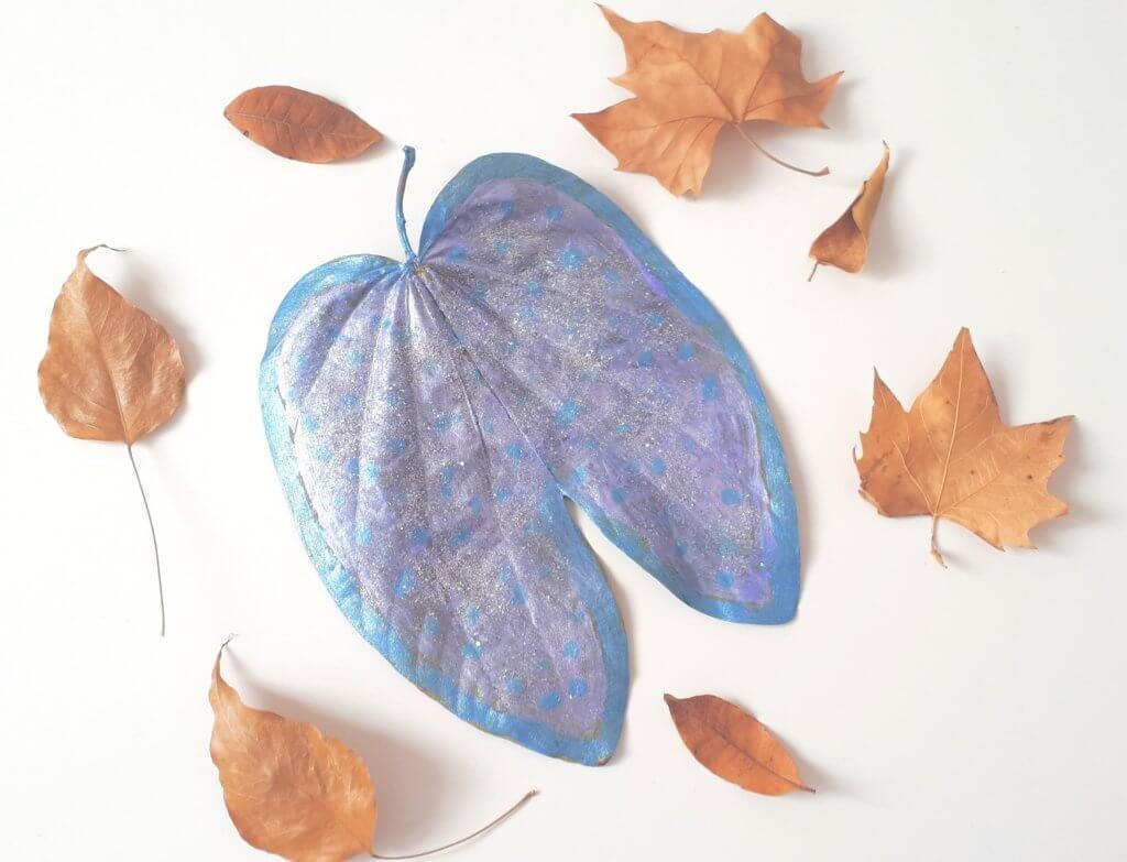 manualidades con hojas para niños
