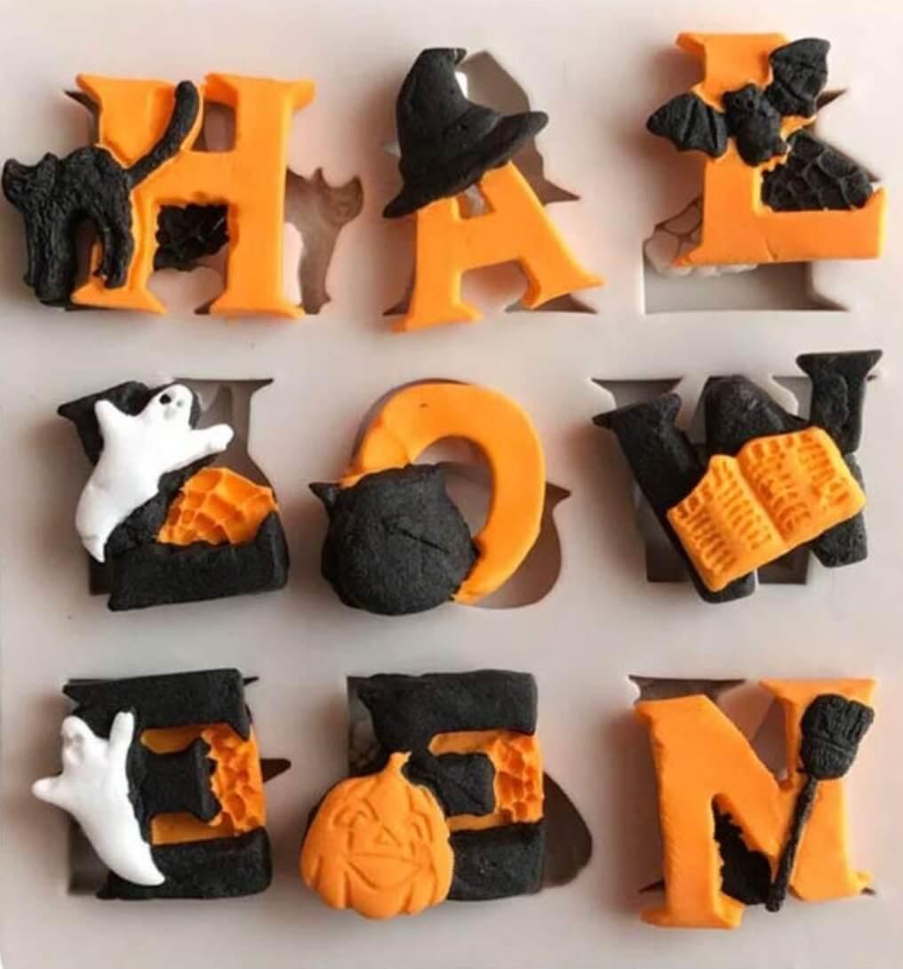 molde para hacer dulces en halloween