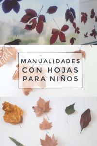 manualidades para niños con hojas