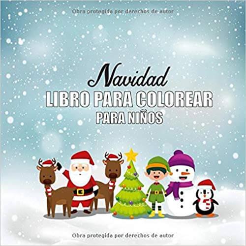 libro navidad colorear