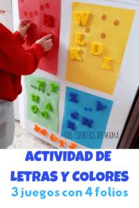 actividad para aprender letras y colores
