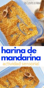 harina de mandarina actividad sensorial