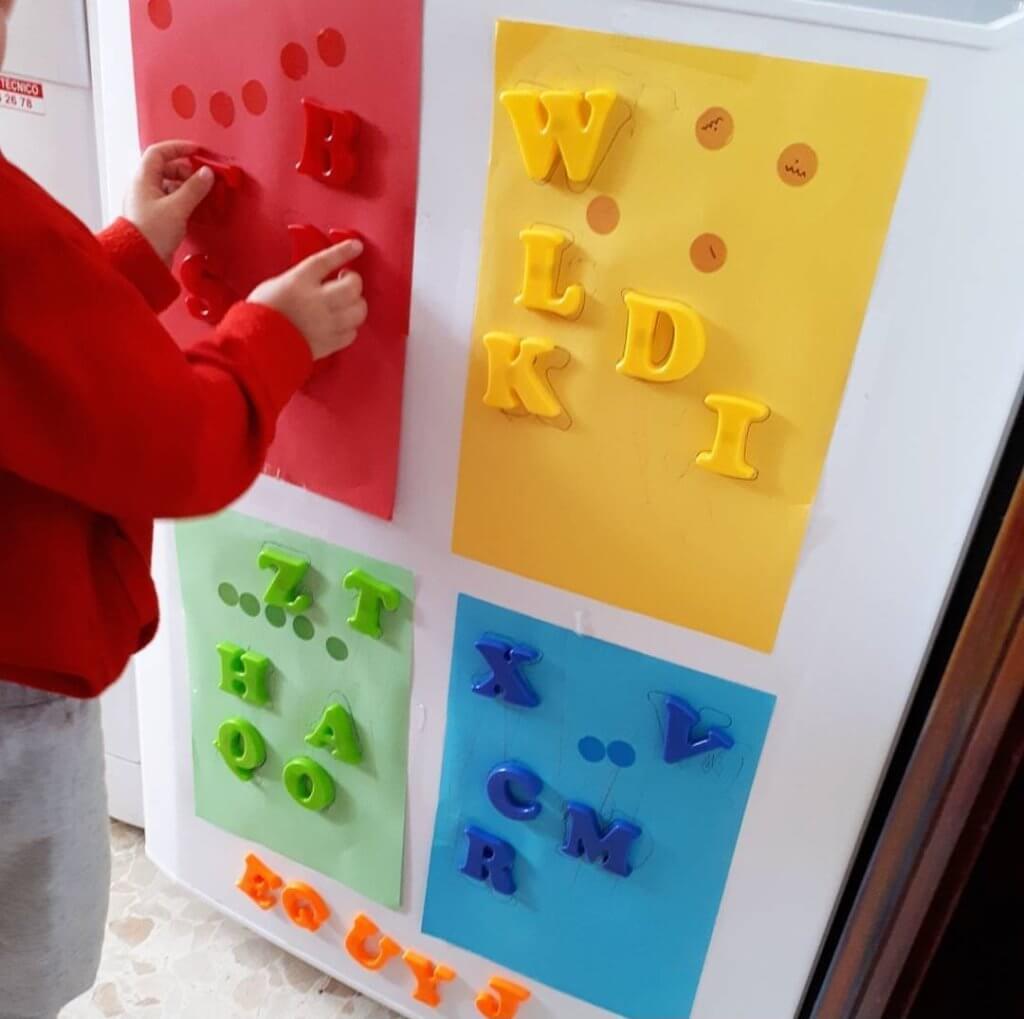 actividad clasificar letras