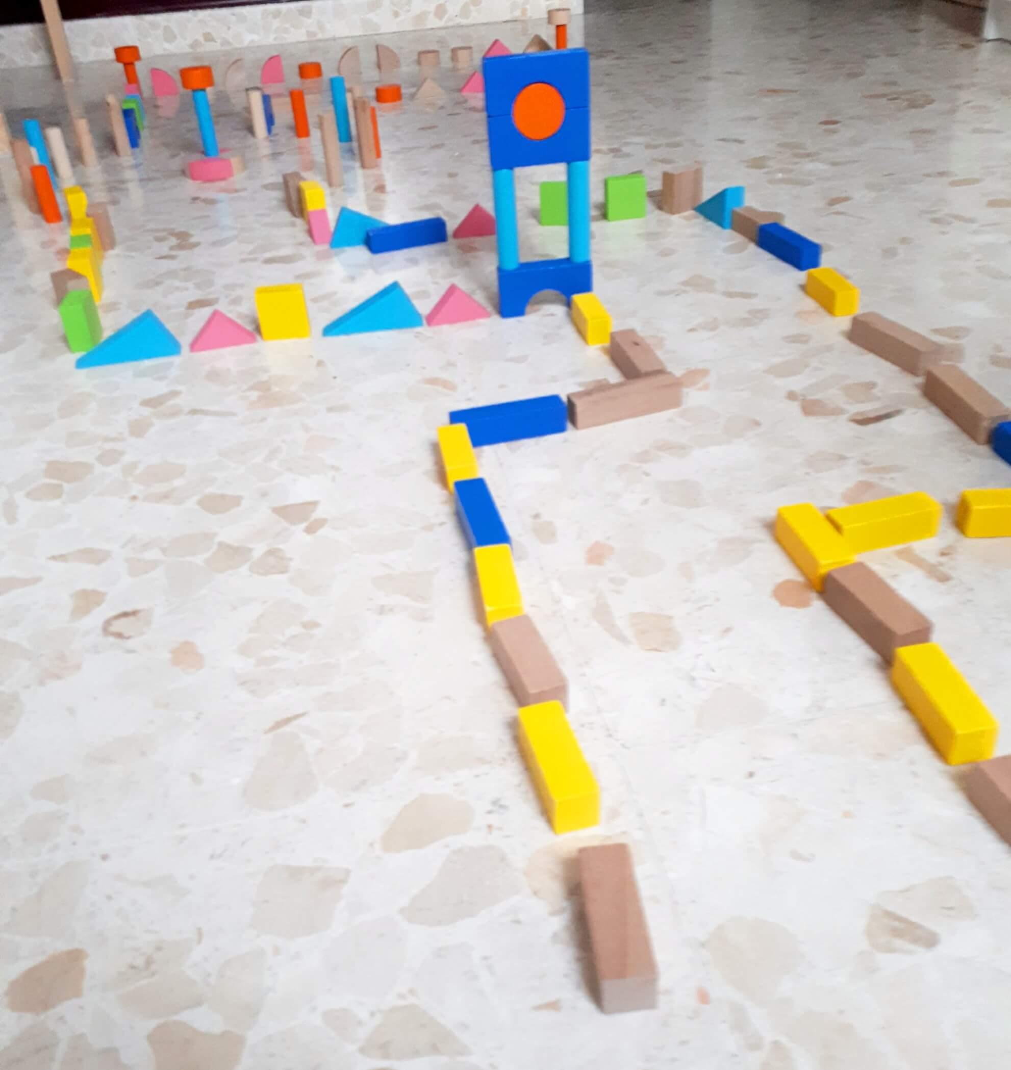 jugar con bloques