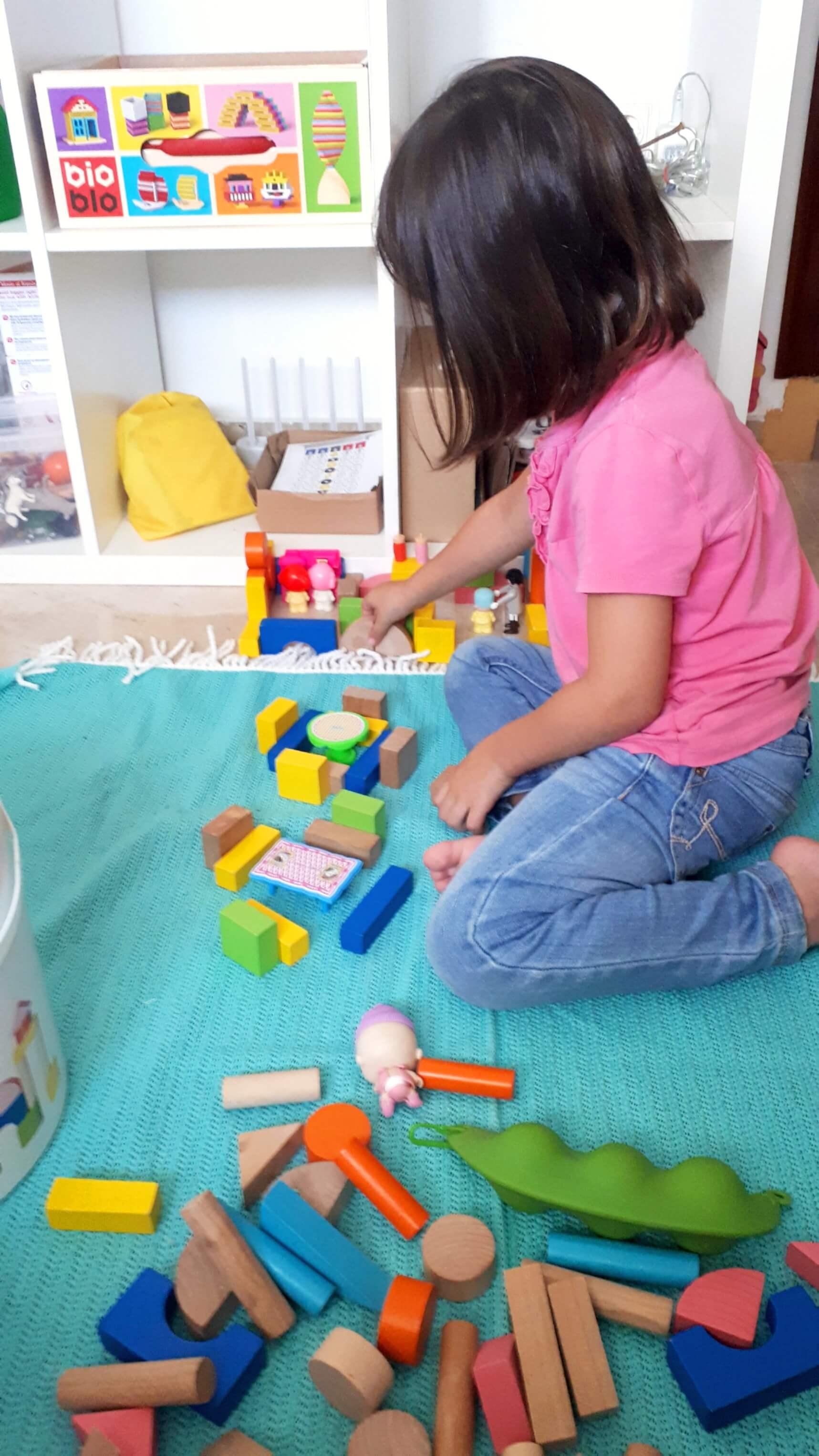 jugar con construcciones