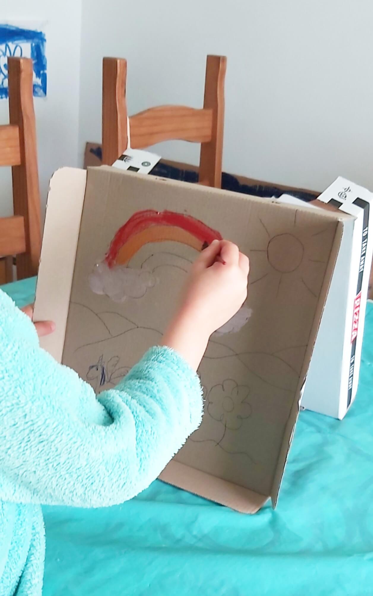 Pintar en vertical niños