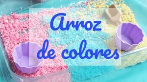 como hacer arroz de colores