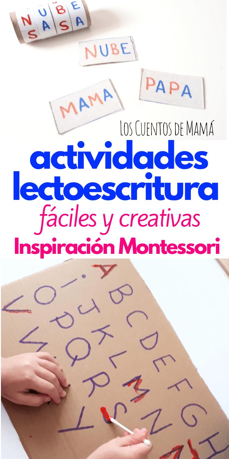 actividades Montessori para aprender a escribir