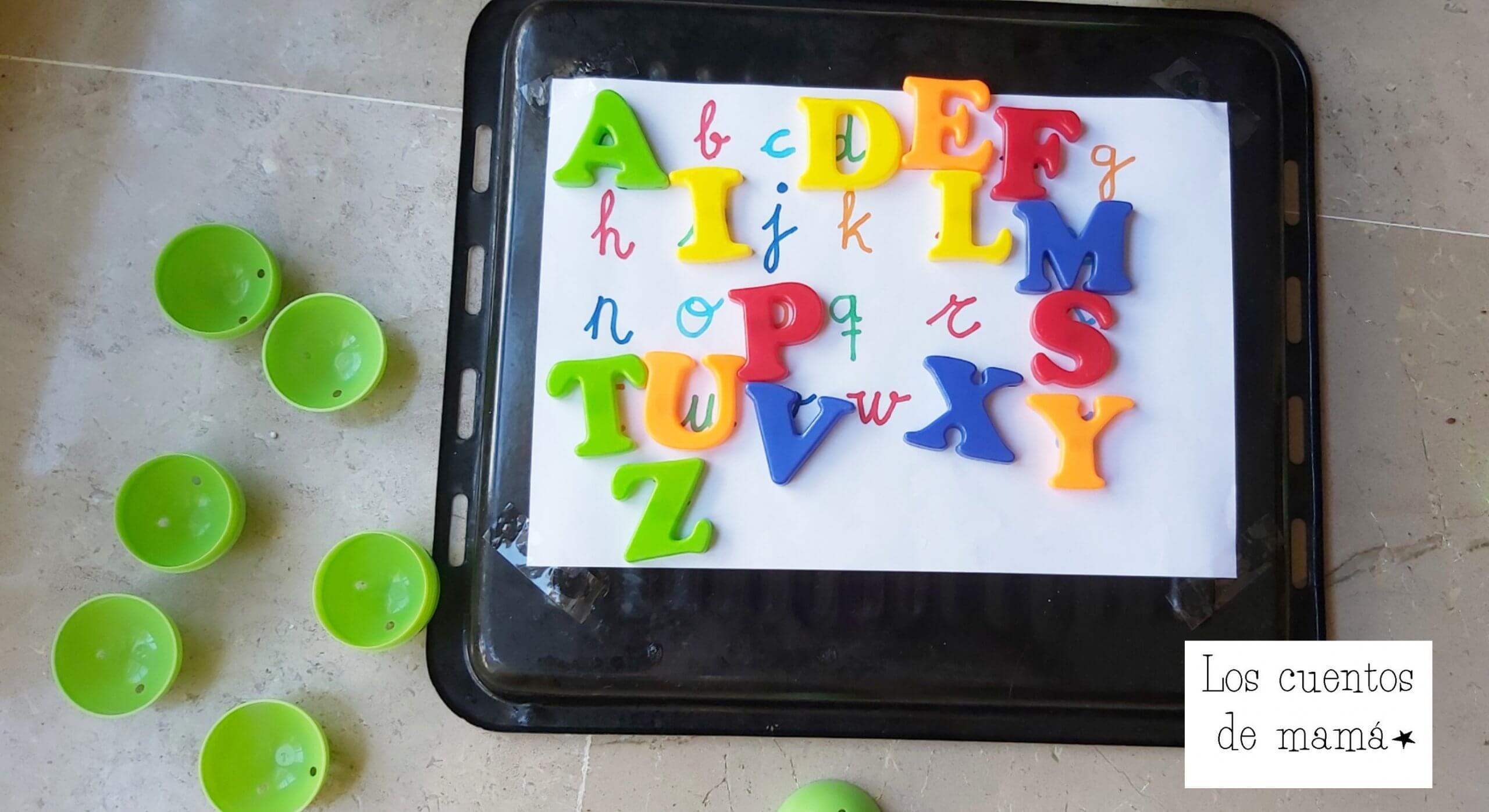 como enseñar las letras