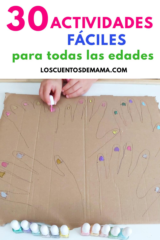 30 actividades faciles para niños