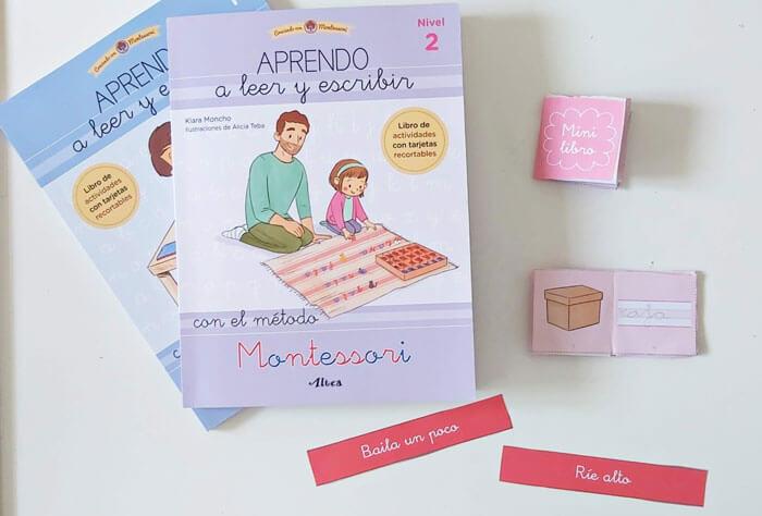 libro aprender a leer y escribir con montessori
