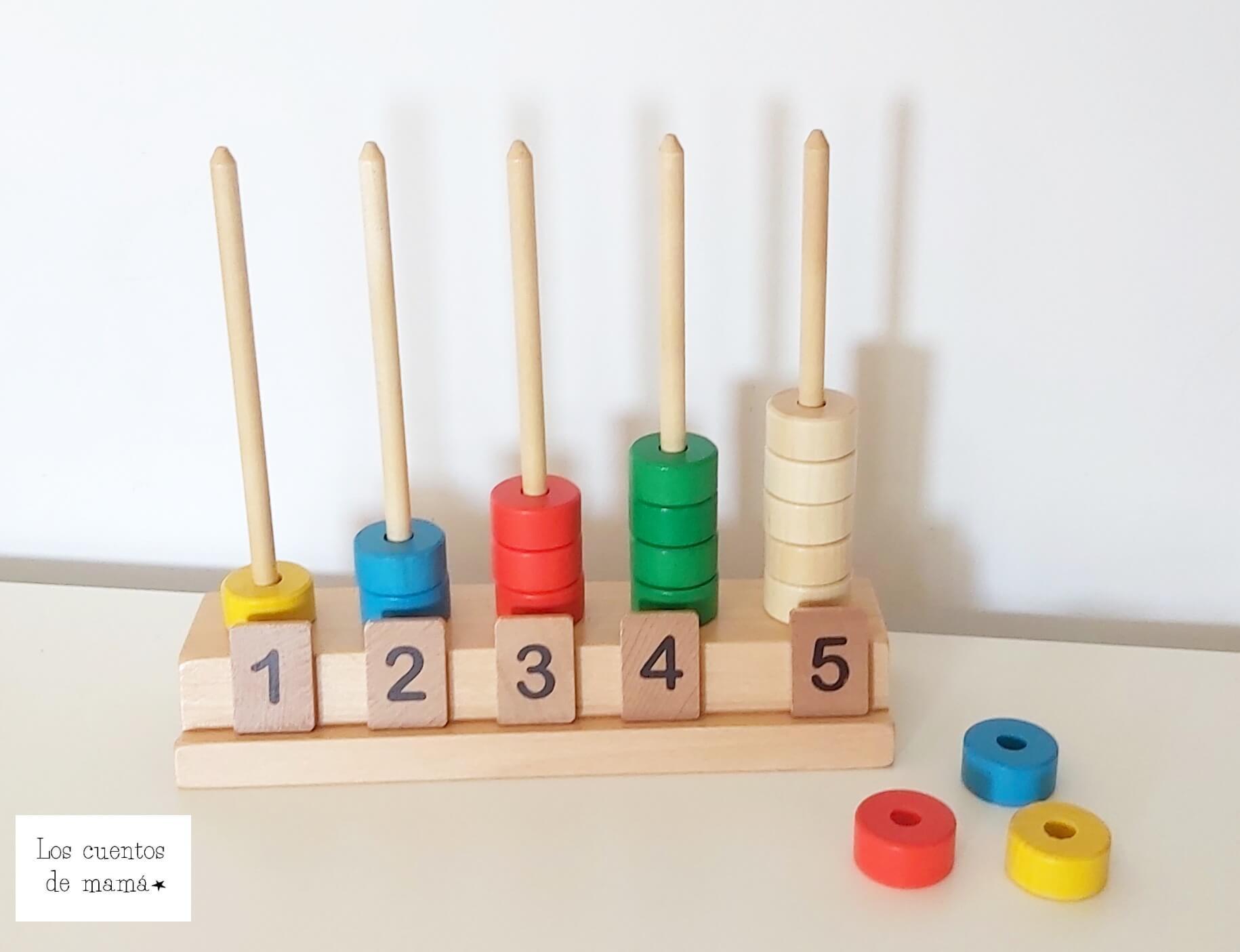 calcular con abaco para niños