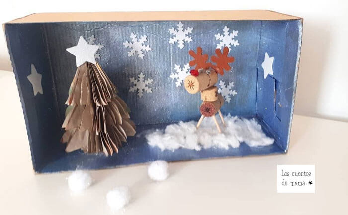 diorama de navidad para niños