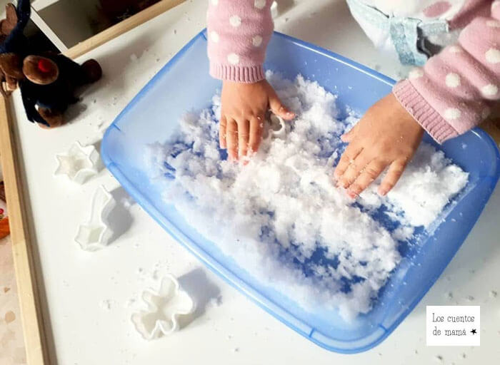 como hacer nieve casera