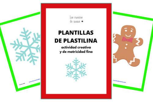 plantillas de plastilina para niños