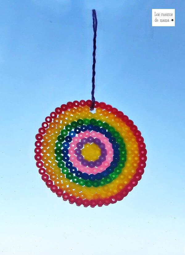 atrapasol con hamma beads