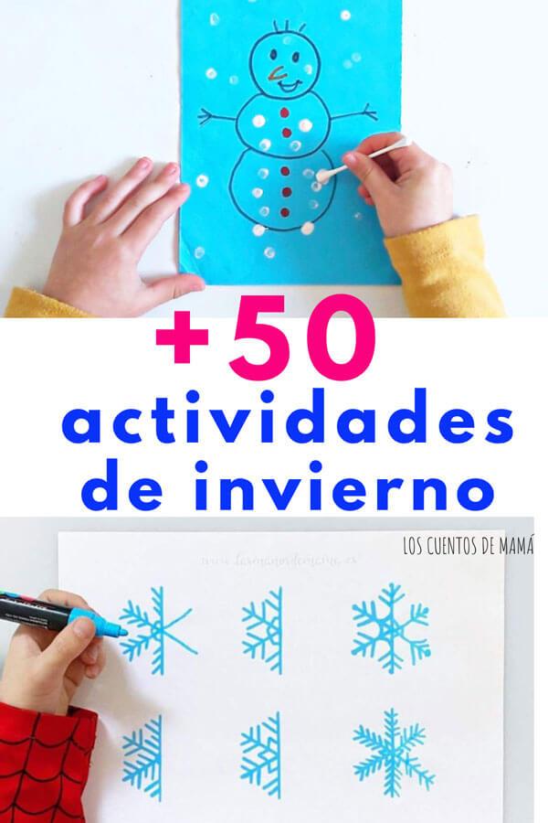 manualidades de invierno para hacer con niños