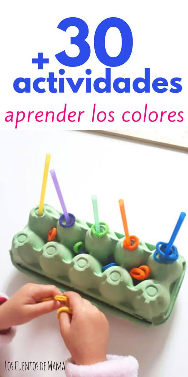 actividades para niños para aprender los colores jugando