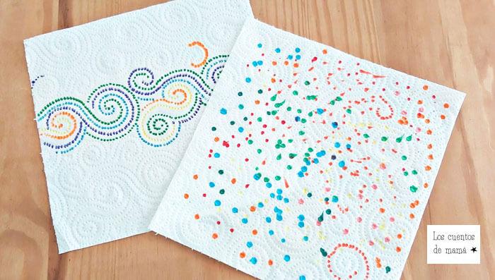 experimentos con colores para niños
