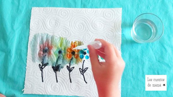 ideas de experimentos con colores para niños
