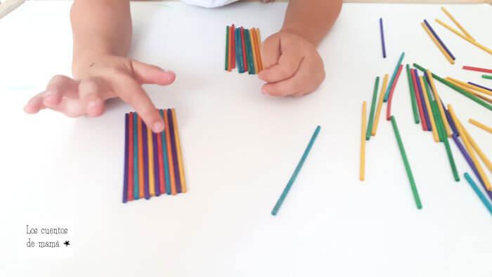 hacer series con colores