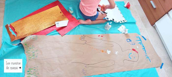 manualidad de collage para niños