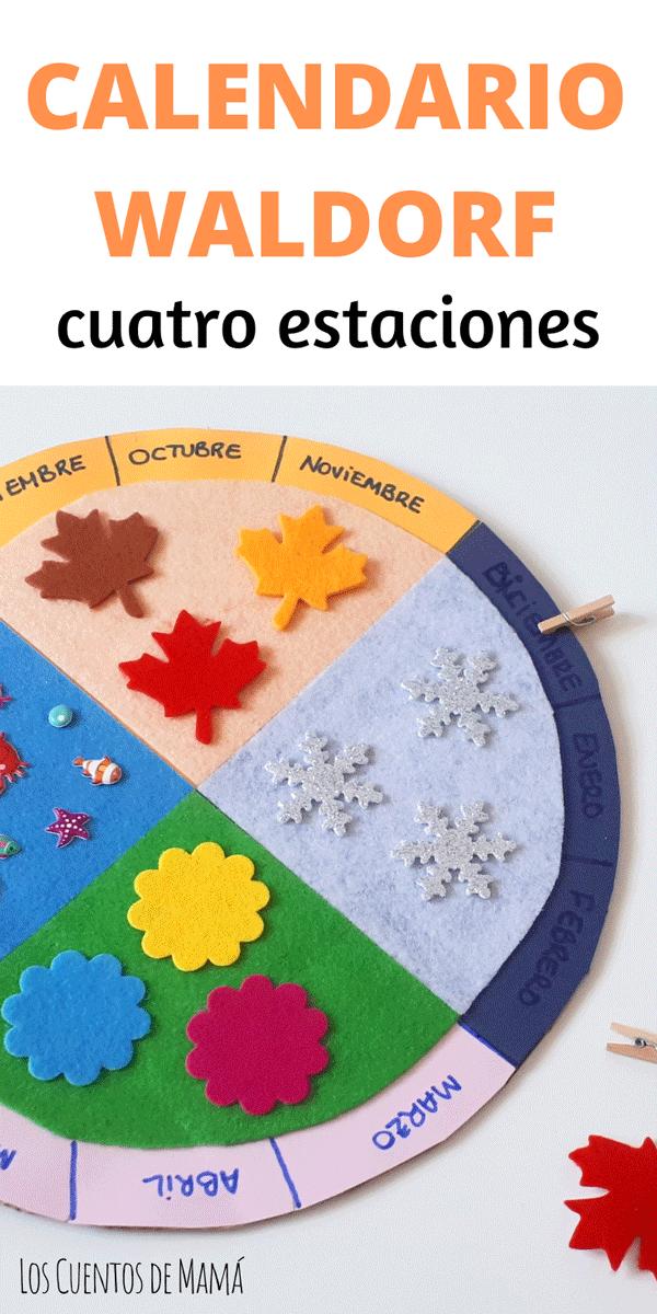 como hacer calendario de las cuatro estaciones