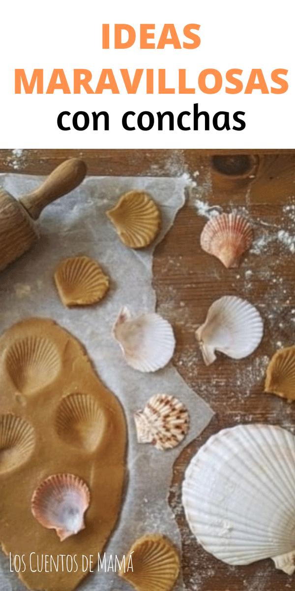ideas infantiles con conchas