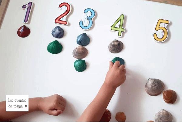 juegos con conchas para niños