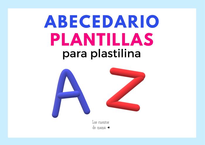 plantilla abecedario para plastilina